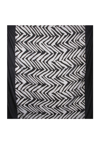 ZEBRA Black & White Printed Woman Scarf