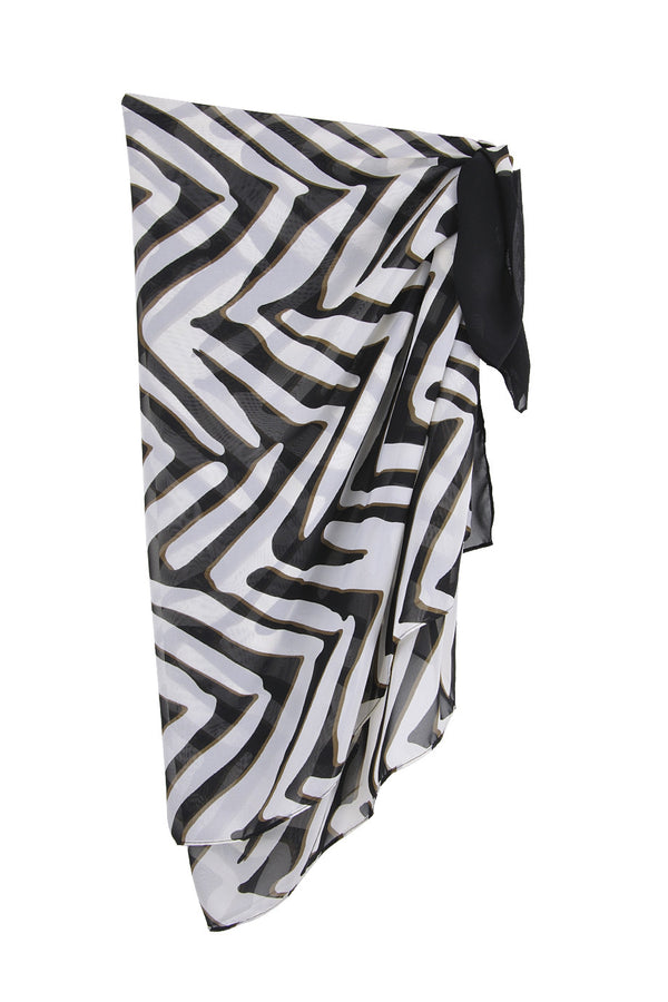 GOTTEX ZEBRA Black & White Printed Woman Scarf
