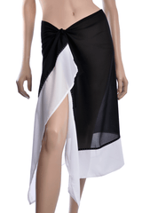 GOTTEX Black & White Wrap Around Skirt