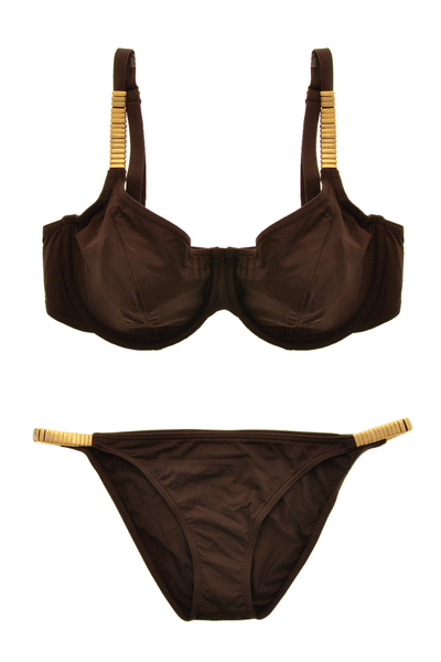 GOTTEX GOLDEN BANDS Brown Bikini