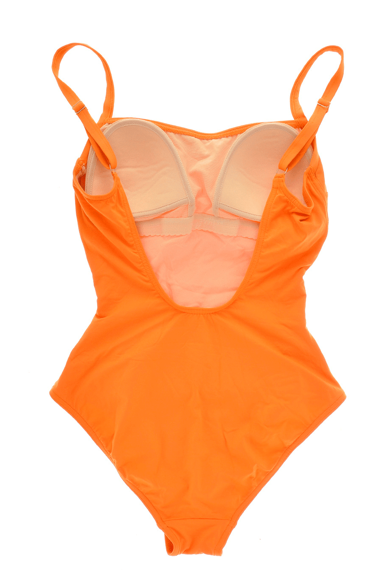 GOTTEX ORANGE Belted One Piece Swimsuit