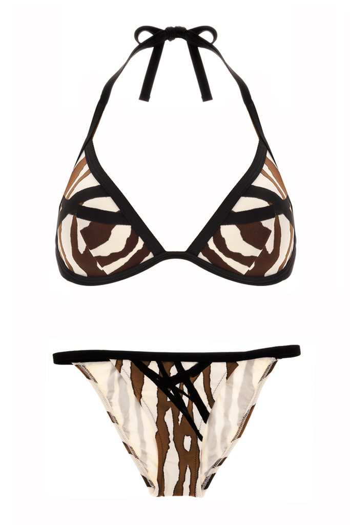 GOTTEX ZEBRA Brown Underwired Bikini