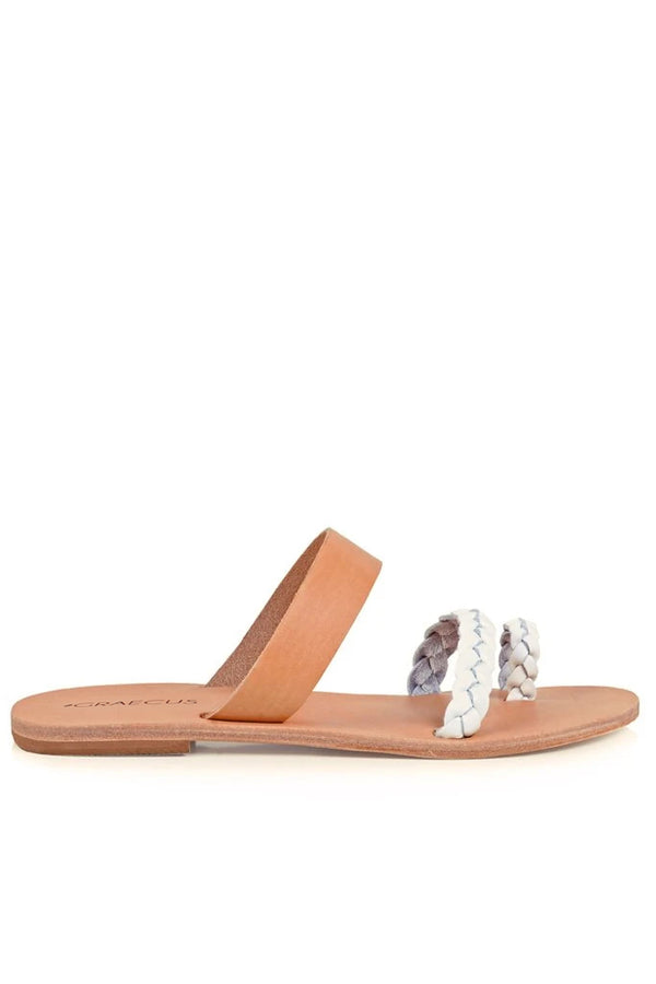 Agnotis Beige White Leather Sandals | Graecus Greek Handmade Leather Sandals