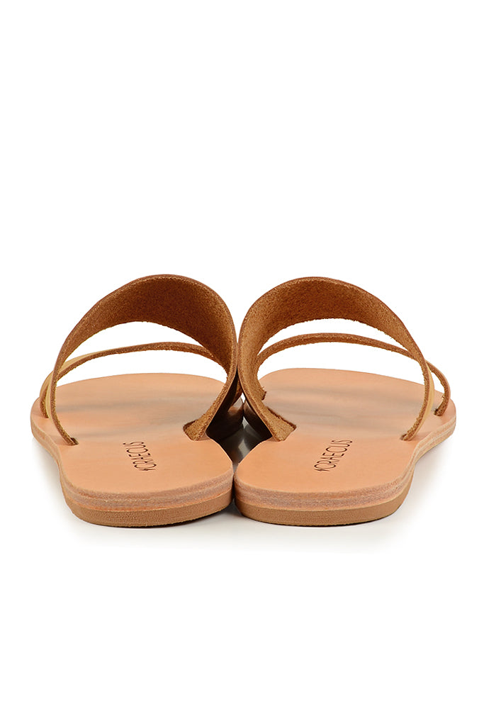 Tyche Beige Suede Leather Sandals