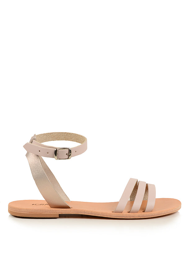 GRAECUS HARMONIA Ivory Leather Sandals