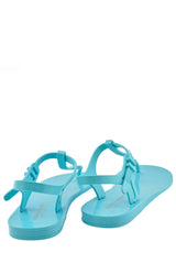 HENRY & HENRY ATHENA Light Blue Rubber Women Sandals