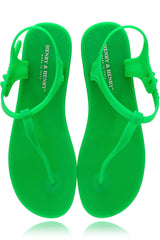 HENRY & HENRY ATHENA Green Fluo Rubber Sandals