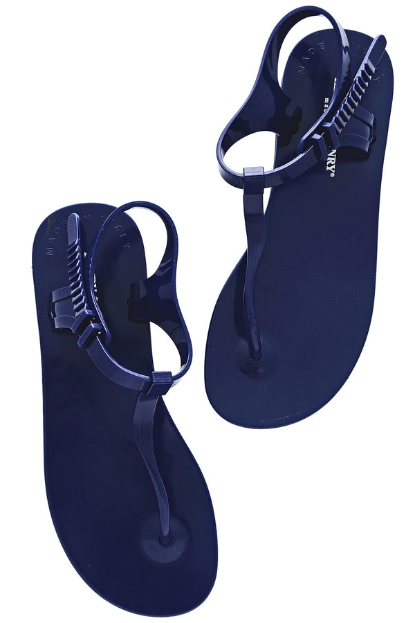 HENRY & HENRY ATHENA Royal Blue Rubber Sandals
