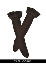 HYD CAPRI 70 Opaque Hold Ups Cappuccino Brown