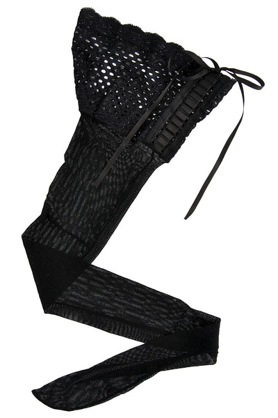 HYD CORSET Lace Hold Ups Nero (Black)