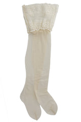 HYD WONDERFUL Ivory Lace Hold Ups