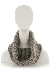 INVERNI EVEREST Beige Brown Fishbone Wool Woman Scarf