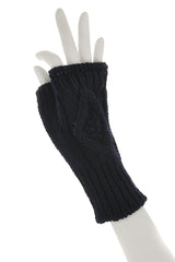 INVERNI HEIDI Fingerless Blue Merino Wool Women Gloves
