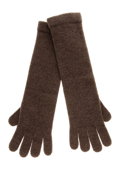 CHALET Marrone Cashmere Wool Women Gloves