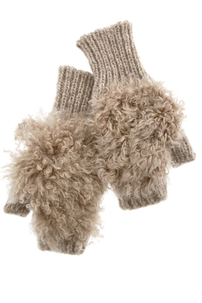 INVERNI ESCIMO Baby Alpaca Fingerless Wool Women Gloves