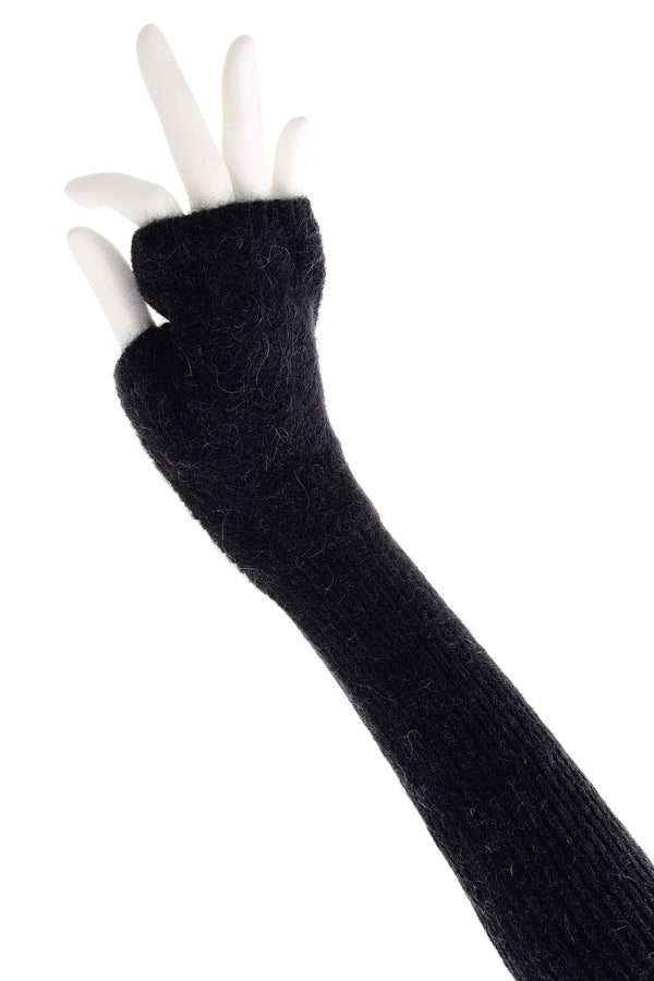 INVERNI EVEREST Dark Blue Fingerless Wool Women Gloves