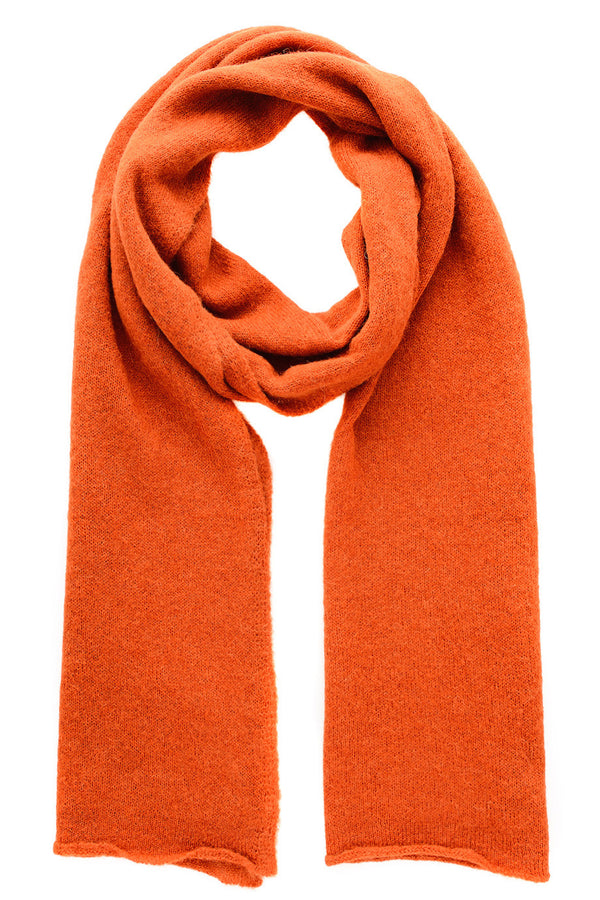 INVERNI EVEREST Orange Wool Woman Scarf