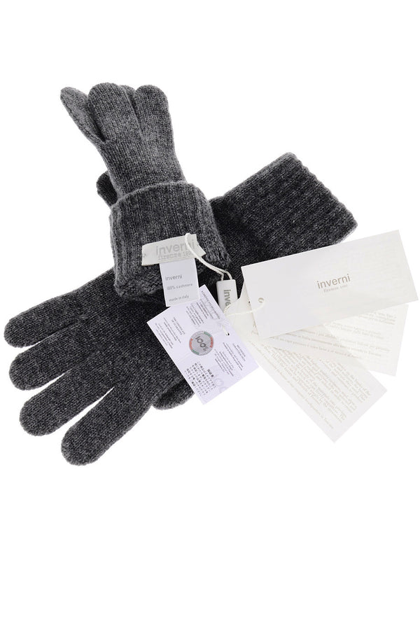 INVERNI FLORENCE Grey Cashmere Wool Women Gloves