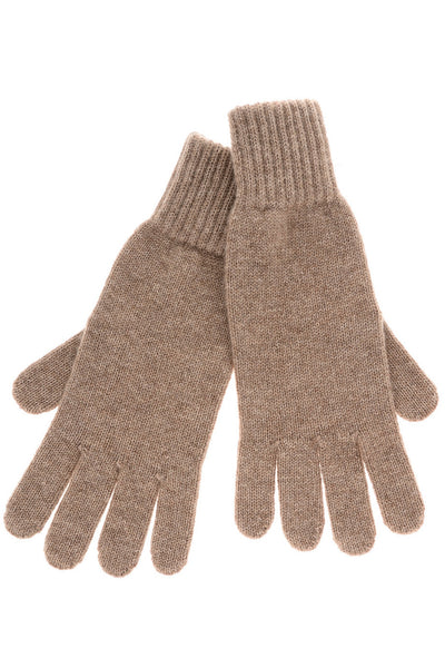 INVERNI FLORENCE Light Brown Cashmere Wool Women Gloves