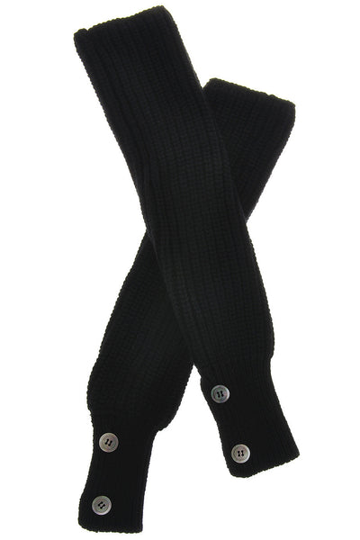 HIMALAYA Black Cashmere Wool Women Arm Warmers