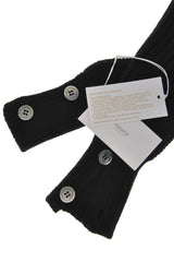 INVERNI HIMALAYA Black Cashmere Wool Women Arm Warmers
