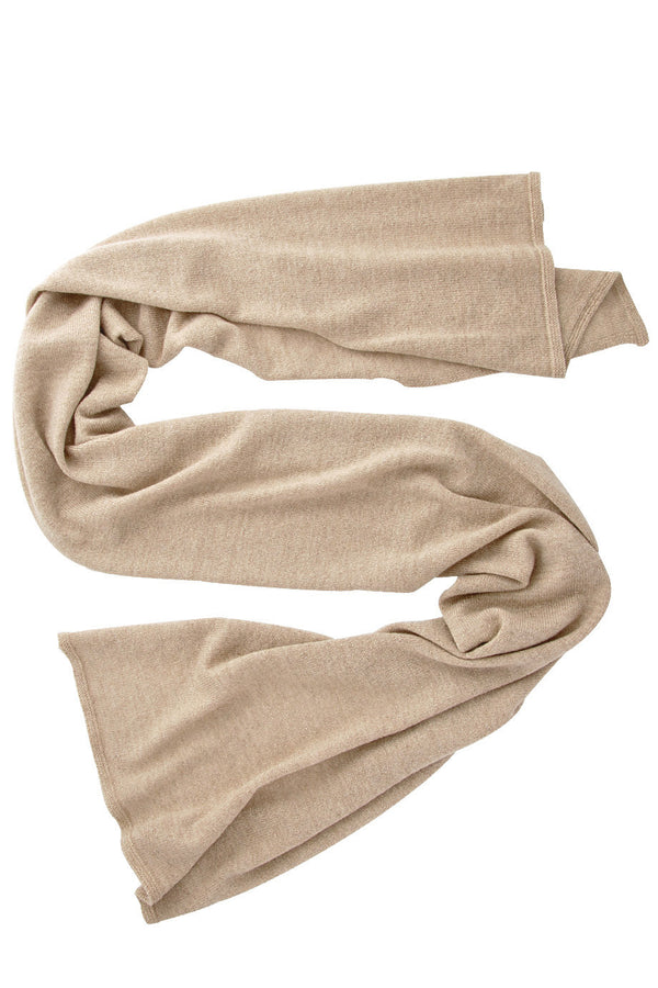 INVERNI SNOWFLAKE Beige Cashmere Glitter Knitted Woman Scarf