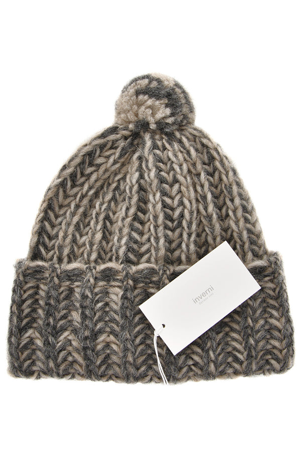INVERNI EVEREST Brown Fishbone Beanie