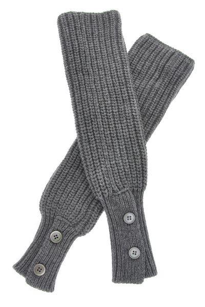 INVERNI Wool Women Gloves - HIMALAYA Grey Cashmere Wool Women Arm Warmers