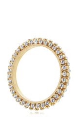 ISHARYA BLING Gold Crystal Bangle Bracelet