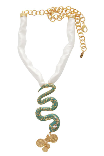 ISHARYA CLEOPATRA Serpent Coin Necklace