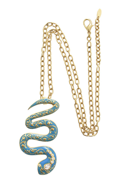 FIRE Blue Turquoise Serpent Pendant