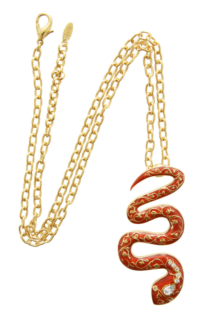 ISHARYA FIRE Red Serpent Pendant