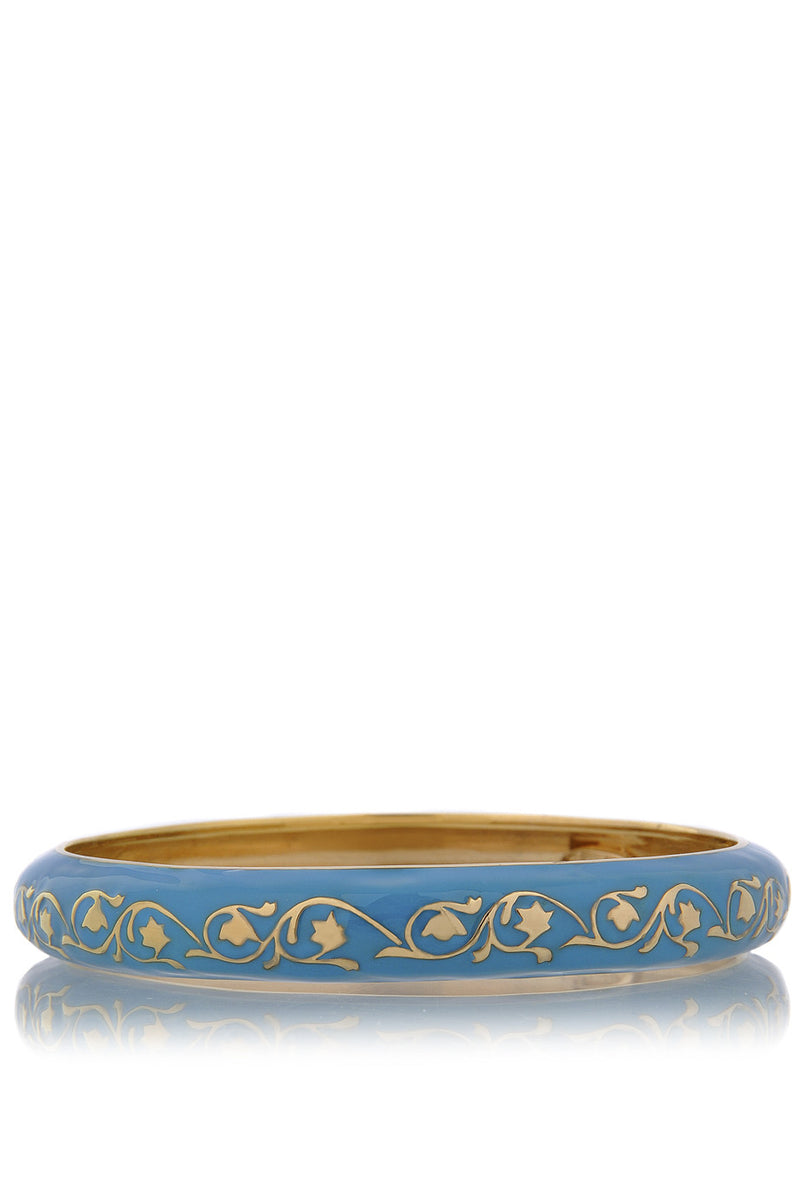 ISHARYA FLORENTINE Blue Enamel Bangle Bracelet