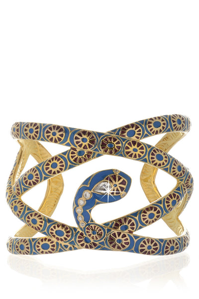 FLORENTINE Serpent Blue Crystal Cuff