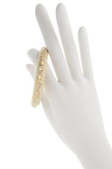 ISHARYA FLORENTINE Cream Enamel Bangle Bracelet