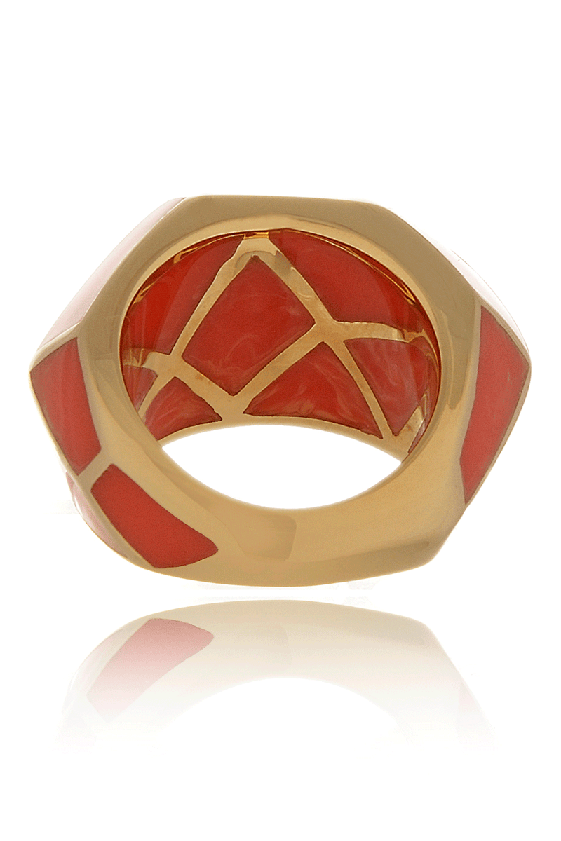 ISHARYA LOUVRE Coral Resin Ring
