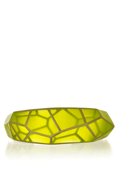 LOUVRE Neon Yellow Resin Cuff Bracelet