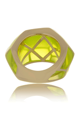 ISHARYA LOUVRE Neon Yellow Resin Ring
