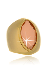 ISHARYA MIRROR GEMS Marquise Gold Pink Ring