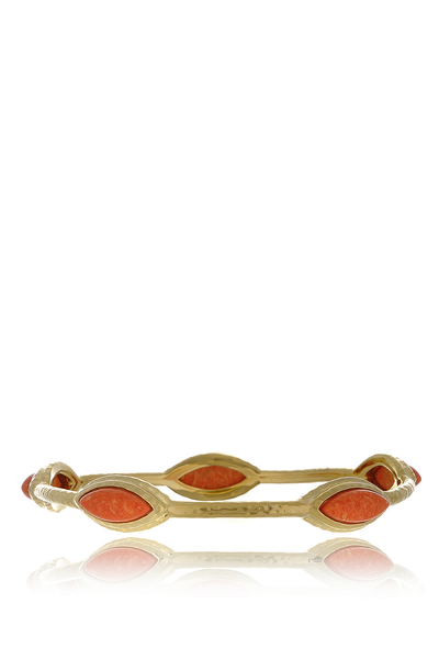 ISHARYA NILE NYMPH Coral Bangle Bracelet
