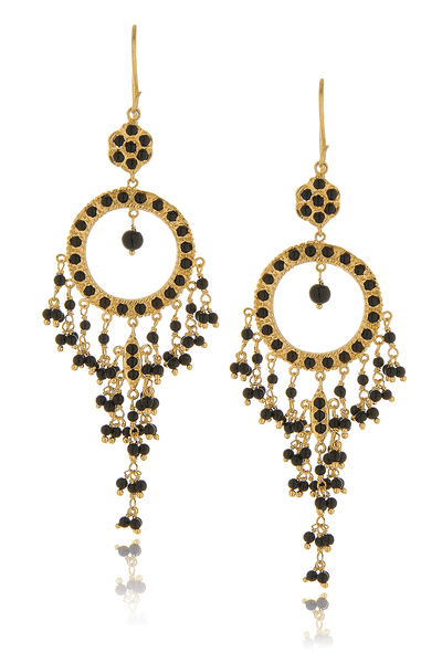 ISHARYA NIKITA Black Onyx Earrings