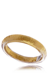 ISHARYA STRADIA Transparent Gold Resin Bangle