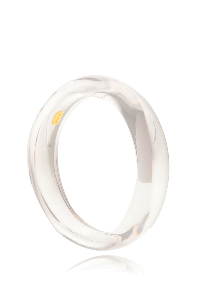 ISHARYA STRADIA Transparent Resin Bangle Bracelet
