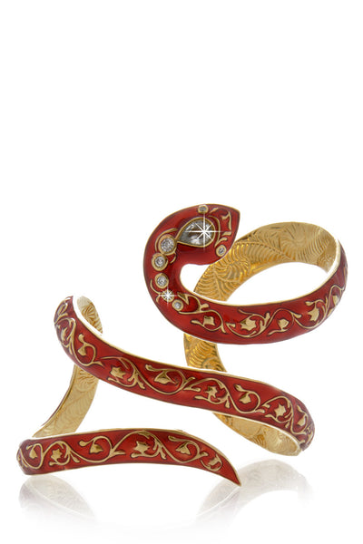 ISHARYA FIRE SERPENT Wraparound Cuff