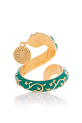ISHARYA - FLORENTINE Green Turquoise Serpent Coin Ring - Women Jewelry
