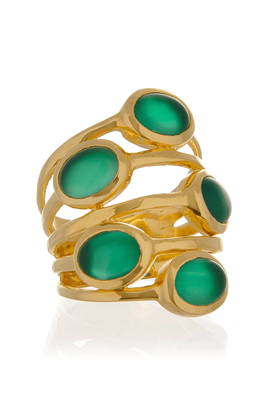 ISHARYA GYPSY Green Onyx Multi Stone Ring