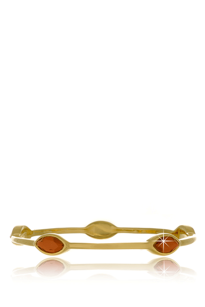 ISHARYA MARQUISE Pink Mirror Bangle Bracelet