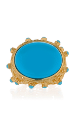 ISHARYA MOON BALI Turquoise Cocktail Ring