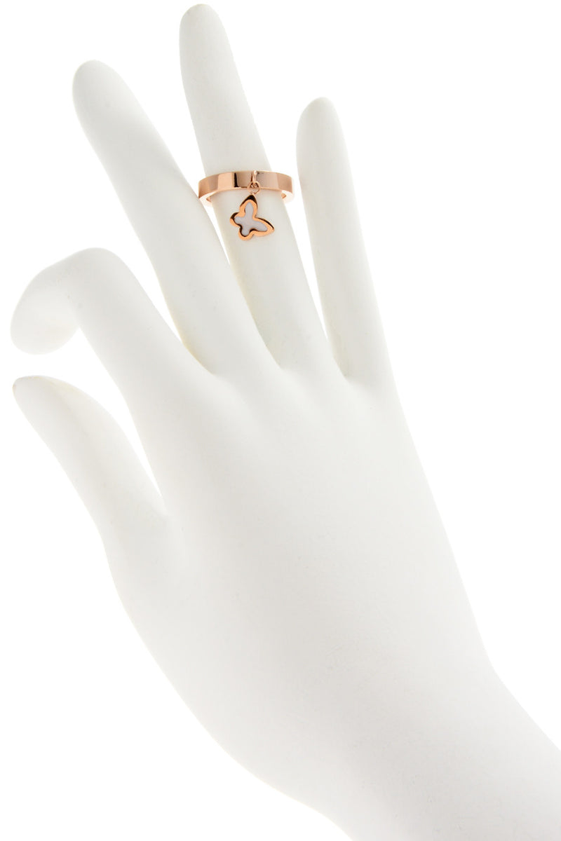 JUNIPER White Butterfly Ring