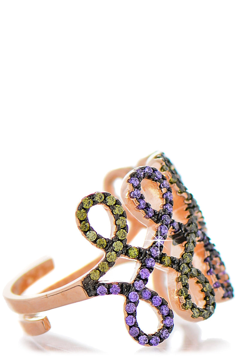 KALIA Multicolor Crystal Cocktail Ring